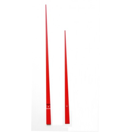 Aiguilles droites géantes 33/45cm rouge
