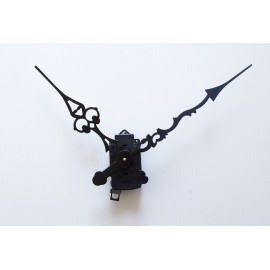 Mécanisme d'horloge à balancier + grandes aiguilles ciselées extra-longues 20/30cm pour cadran très épais DIY