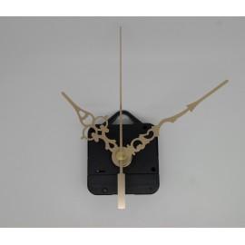 Mécanisme d'horloge + aiguilles style dorées 6.8/9.8cm pour cadran fin