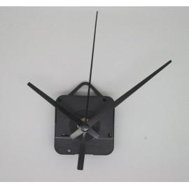 Mécanisme d'horloge + aiguilles droites courtes 6.2/9.5cm pour cadran fin
