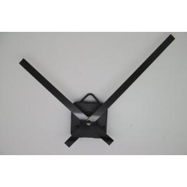 Mécanisme d'horloge + aiguilles droites longues 13/18cm pour cadran fin
