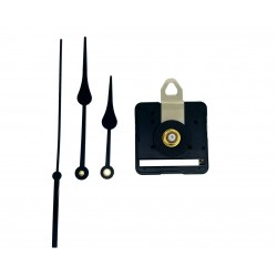 Mécanisme d'horloge silencieux + aiguilles poire 8/11cm pour cadran jusqu'à 6mm d'épaisseur