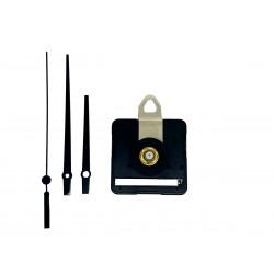Mécanisme d'horloge silencieux + aiguilles droites courtes 6.2/9.5cm pour cadran jusqu'à 6mm d'épaisseur