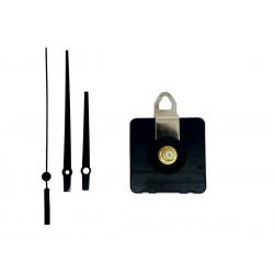 Mécanisme d'horloge silencieux + aiguilles droites courtes 6.2/9.5cm pour cadran jusqu'à 10mm d'épaisseur