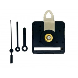 Mécanisme d'horloge silencieux + aiguilles droites très courtes 3.8/5cm pour cadran jusqu'à 6mm d'épaisseur