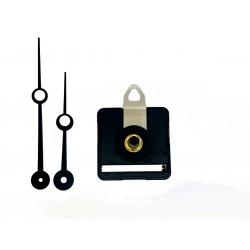 Mécanisme d'horloge silencieux + aiguilles trou 8.8/11.5cm pour cadran jusqu'à 6mm d'épaisseur