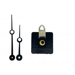 Mécanisme d'horloge silencieux + aiguilles trou 8.8/11.5cm pour cadran jusqu'à 10mm d'épaisseur
