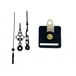 Mécanisme d'horloge silencieux + aiguilles ciselées 6.8/9.8cm pour cadran jusqu'à 6mm d'épaisseur
