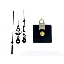 Mécanisme d'horloge silencieux + aiguilles ciselées 6.8/9.8cm pour cadran jusqu'à 10mm d'épaisseur