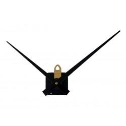 Mécanisme d'horloge SILENCIEUX + grandes aiguilles droites 16/20cm DIY pour cadran épais