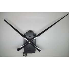 Mecanisme d'horloge SILENCIEUX à balancier + grandes aiguilles longues droites17/24cm pour cadran épais DIY