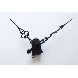 Mécanisme d'horloge SILENCIEUX à balancier + grandes aiguilles ciselées extra-longues 20/30cm pour cadran épais DIY
